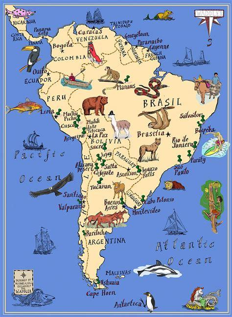 michael  hill map  south america geografiya