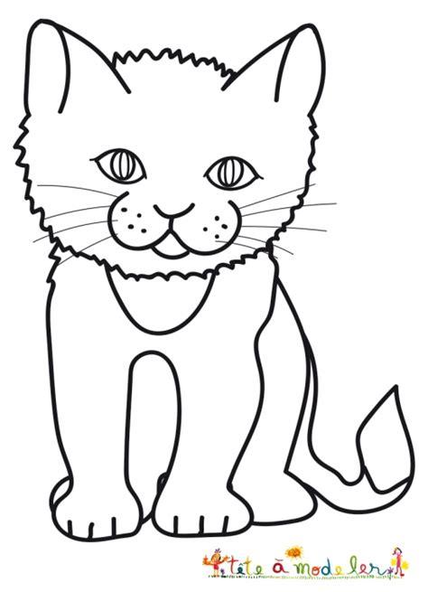 dessin de chat assis coloriages sur les chats de toutes sortes coloriage chat t 234 te 224 modeler