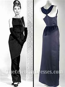 Audrey Hepburn Black Prom Dress In Breakfast at Tiffany's ...