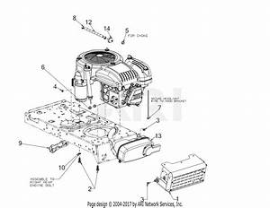 Troy Bilt 13a877bs066 Pony 42x  2018  Parts Diagram For