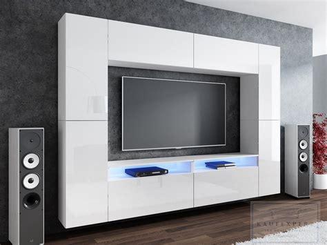Die moderne wohnwand hat alles: KAUFEXPERT - Wohnwand Cinema Weiß Hochglanz/Weiß Mediawand ...