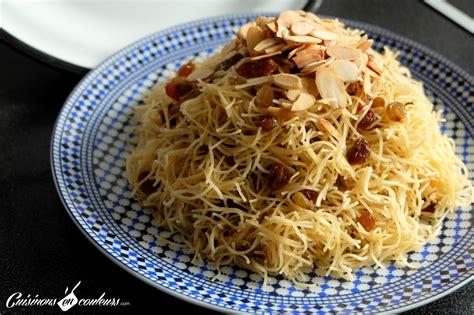 cuisine marocaine seffa seffa cheveux d 39 anges aux raisins secs et aux amandes