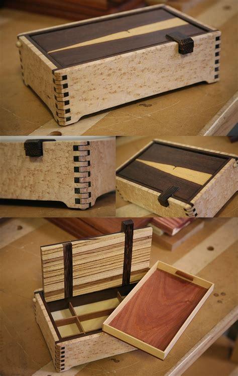 lidded keepsake box  exotic woods woodworking