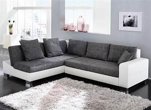 Schlafcouch Weiß Grau : ecksofa isola 285x209cm anthrazit wei sofa couch schlafsofa schlafcouch liege ebay ~ Markanthonyermac.com Haus und Dekorationen
