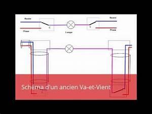 Branchement D Un Va Et Vient : sch ma d 39 un ancien va et vient youtube ~ Carolinahurricanesstore.com Idées de Décoration