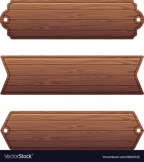 set   wooden banners royalty  vector image