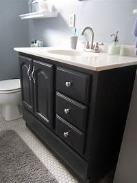 painting bathroom vanity Bathroom Vanity Makeover with Chalk Paint » Decor Adventures
