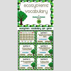 Ecosystems Vocabulary I Have Who Has Game  Dr Who, Review Games And Student