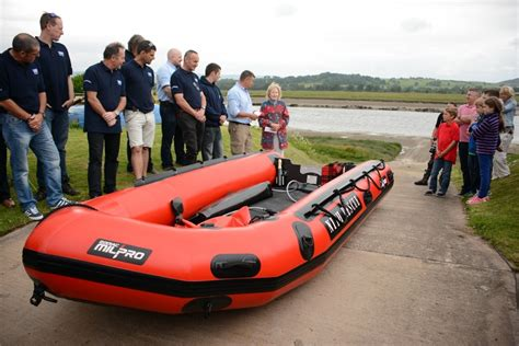 Boat House Glencaple by Nith Inshore Rescue Hold Naming Ceremony Of New Boat