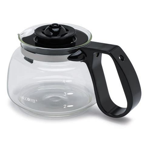 Coffee pot replacement glass coffee pot for 10 or 12 cup coffee makers. Sunbeam® Universal 4 Cup Replacement Glass Carafe Fits Mr Coffee® TF5-099 Model Black Handle/Lid ...