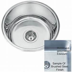 Evier Inox Brossé : vier rond inox sous plan 1 bac en acier bross l45a bs ~ Premium-room.com Idées de Décoration