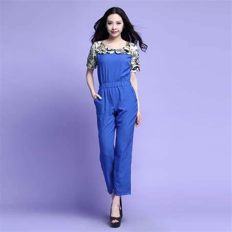 cheap plus size jumpsuits and rompers womens summer suits 2015 plus size clothing