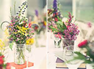 colorful wildflowers centerpieces top cheap easy decor design project holicoffee - Wildflower Wedding