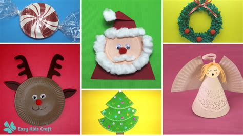 easy christmas paper plate crafts  kids
