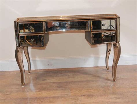 photo deco bureau mirrored desk bureau plat writing table deco mirror