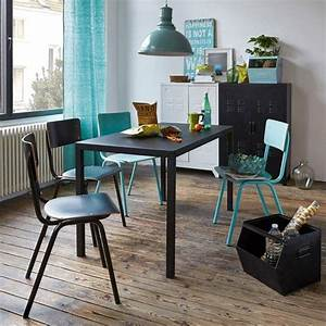 Couvert Noir Mat : table repas m tal noir mat 4 ou 6 couverts hiba la redoute interieurs meubles objets ~ Teatrodelosmanantiales.com Idées de Décoration