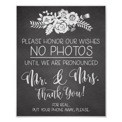 cell phone  wedding ceremony sign zazzle