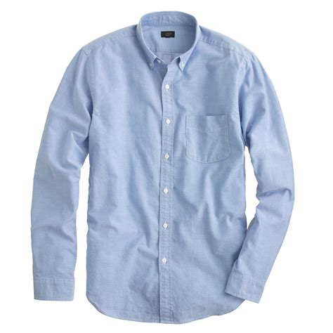 j crew vintage oxford shirt in blue for rustic blue