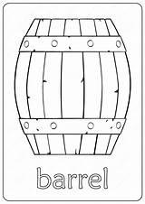 Barrel Outline Coloring Drawing Wooden Pdf Printable Coloringoo sketch template