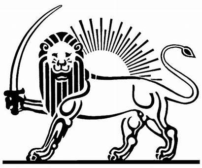 Lion Sun Persian Iran Empire Achaemenid Tattoo