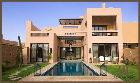 picture of the swimming pool of the villa for seasonal rental in marrakesh on the road to