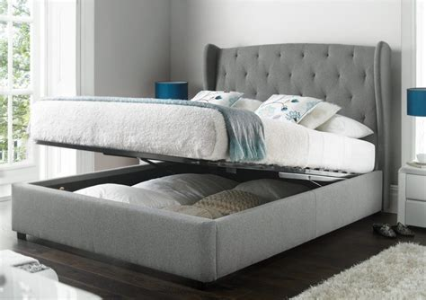 Upholstered Bed Frame With Storage by Richmond Upholstered Winged Ottoman Storage Bed Home Is