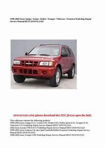 1998 Isuzu Rodeo Repair Manual Pdf