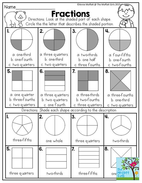 best 25 fractions of shapes ideas on math for