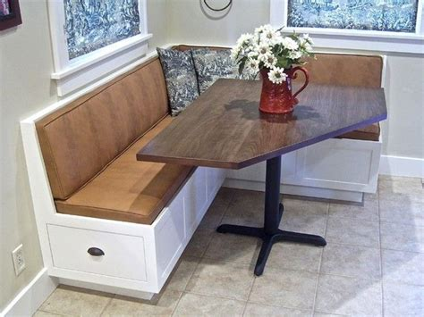 corner kitchen table  storage bench ideas home corner