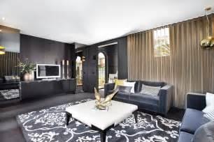Living Room Curtain Ideas Grey Sofa grey sofa living room dining room contemporary with black