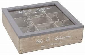 Boîte à Thé Compartimentée : boite th en bois compartiment e ~ Teatrodelosmanantiales.com Idées de Décoration