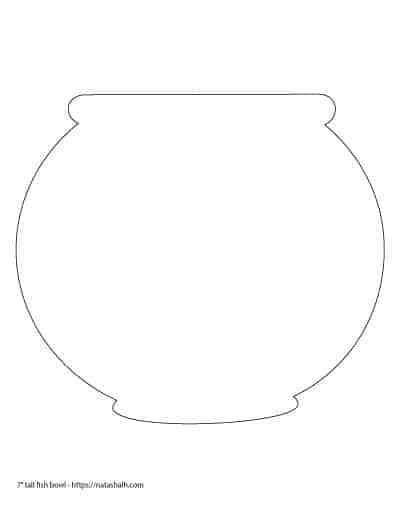 printable fish bowl templates    images