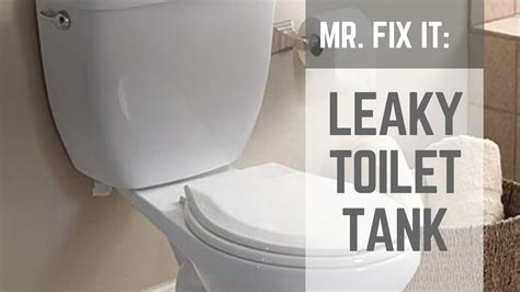 fix  leaky toilet tank nuts bolts youtube