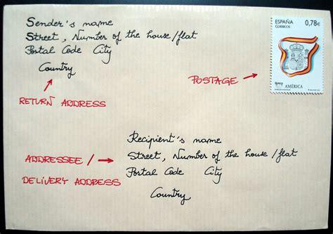 write address  envelope  international
