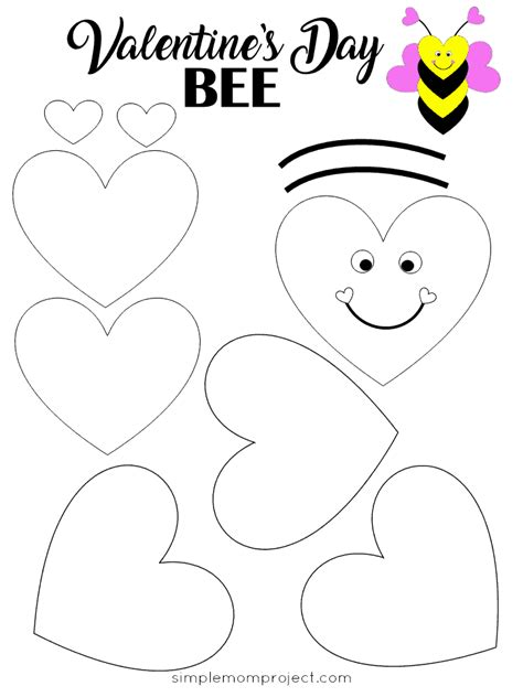 easy   valentines day bee paper craft
