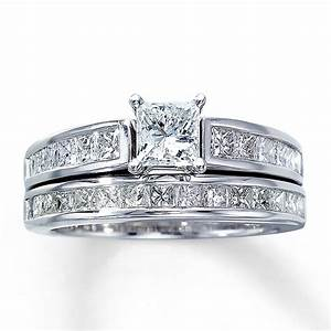 princess cut diamond wedding ring sets wedding and With princess cut engagement and wedding ring sets