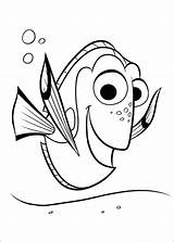 Dory Coloring Pages Finding Cartoon sketch template