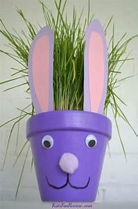 bunny flower pot family crafts