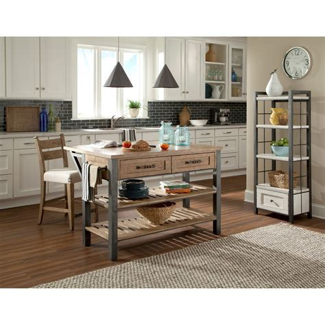 Reunion Kitchen Island with Drop Front Table Extension