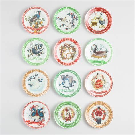 12 Days Of Christmas Plates Set Of 12  World Market