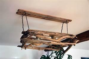 Suspension Bois Flotté : bois flott bricolage recup recyclage deco marine le blog de recup o bois flott lustre ~ Teatrodelosmanantiales.com Idées de Décoration
