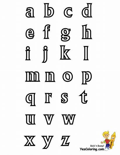 Alphabet Letter Chart Printables Lowercase Coloring Yescoloring