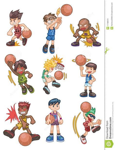 employé de bureau graphisme de basket de dessin animé photo stock