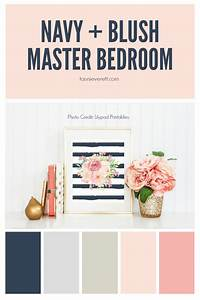 Navy and Blush Master Bedroom Tauni + Co