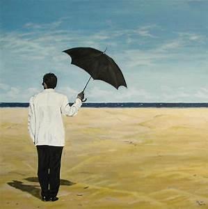 Strandbilder Auf Leinwand : am strand mann meer strand malerei von jol bei kunstnet ~ Watch28wear.com Haus und Dekorationen
