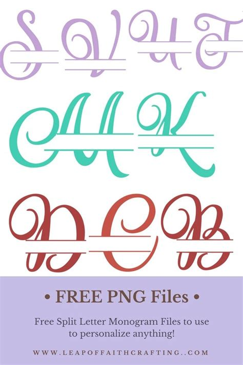 script split letter monogram  personalize  lettering cricut monogram