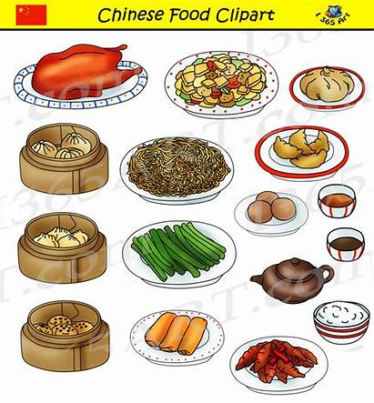 Chinese Clipart Foods Commercial Graphics Snack