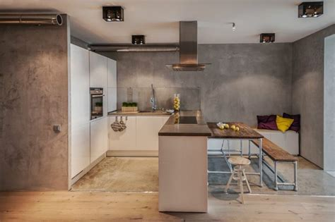 Küchen Ideen Farbe by Graue Effektfarbe In Sichtbeton Optik Hinter Der Wei 223 En