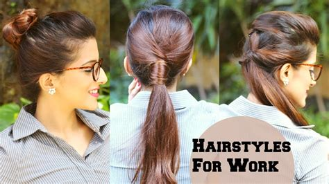 quick everyday hairstyles  work office college