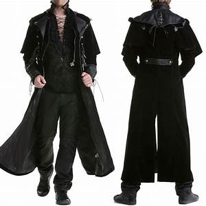 Punk Rave Mens Gothic Steampunk Coat Vtg Regency ...